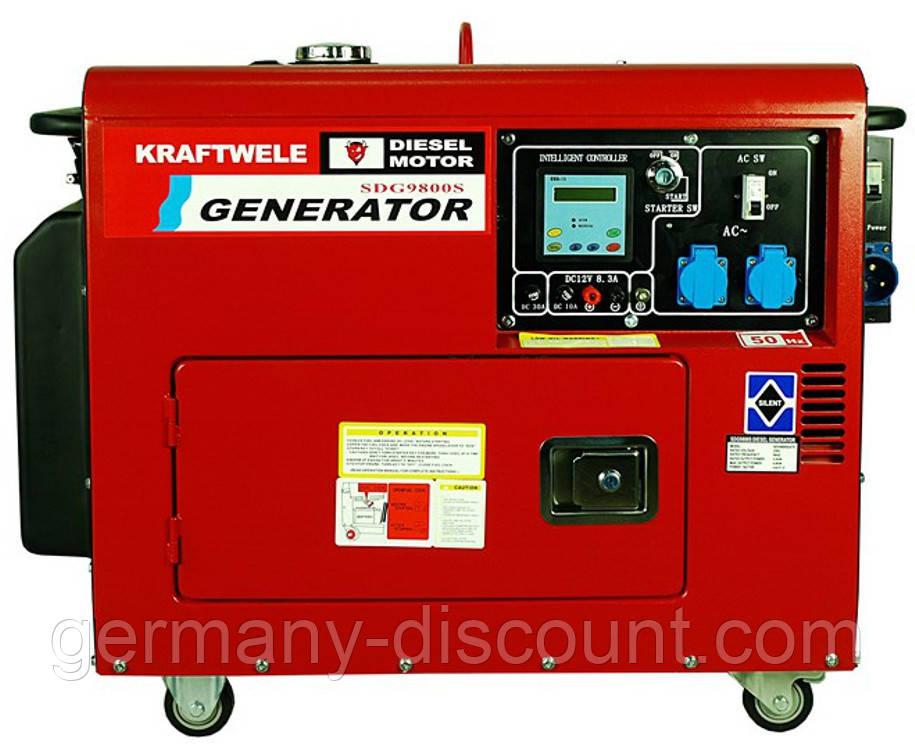 Дизельный однофазный генератор 9.8 Квт с автоматикой(Германия)