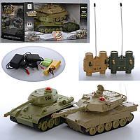 """Танковый бой """"Боевой танк"""" на радиоуправлении на аккумуляторах, набор из двух танков 21 см"""