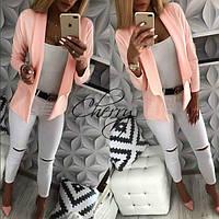 Стильный женский легкий удлиненный пиджак 2 цвета