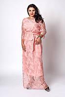Платье мод 569-1 ,размер 50,52,54 абрикос