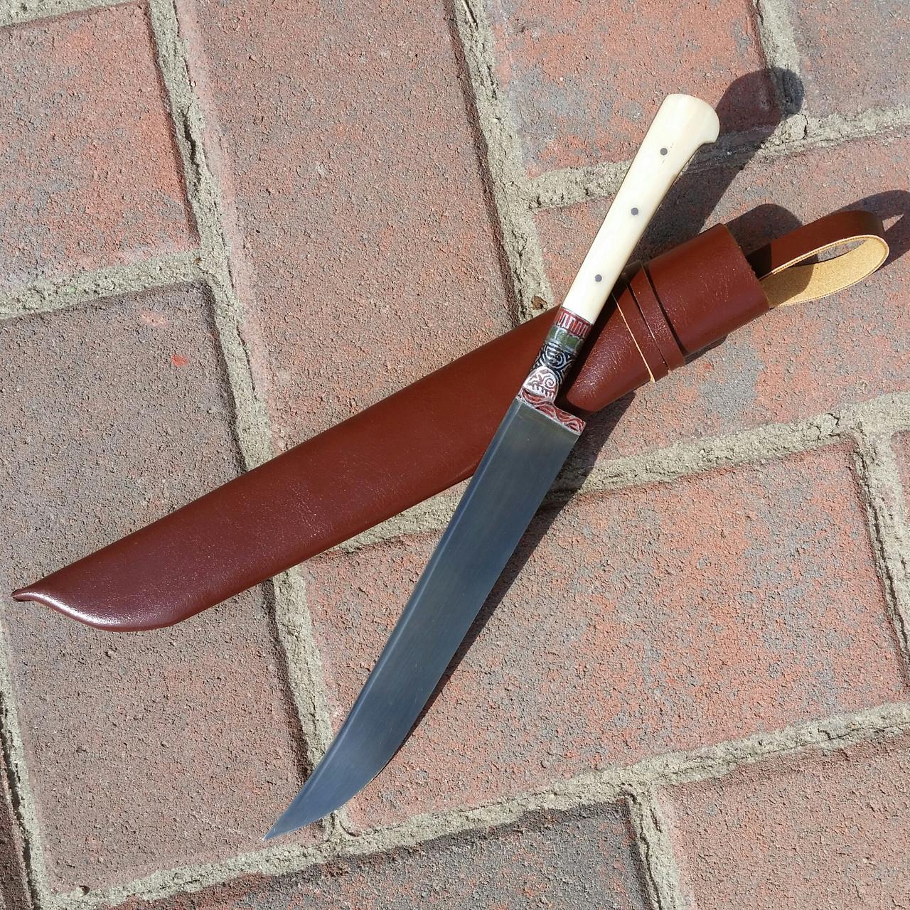 Узбекский универсальный нож с рукоятью из кости