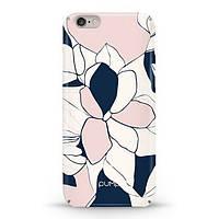 Накладка для iPhone 6/6s софт-тач пластик Pump Art Flowers