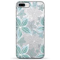 Накладка для iPhone 7 Plus/iPhone 8 Plus силікон Pump Blue Flowers