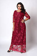 Платье мод 569-2 ,размер 50,52,54 бордо.
