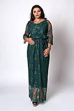 Платье мод 569-3 ,размер 50,52 бутылочное.