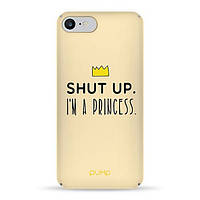 Накладка для iPhone 7/iPhone 8 софт-тач пластик Im a Princess