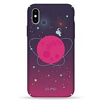 Накладка для iPhone X/iPhone XS софт-тач пластик Pump Pink Space