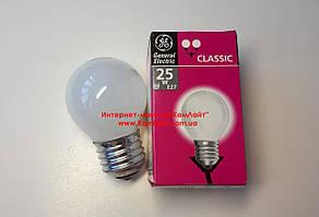 Лампа накаливания шарик General Electric 25W E27 матовый (Венгрия)