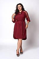 Платье мод №570-3, размеры 50,52,54 бордовое