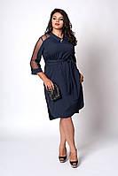 Платье мод №570-6, размеры 50,52,54 темно-синее