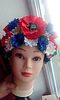 """Кокошник на голову """"Украинский Национальный"""", атласный, фото 1"""
