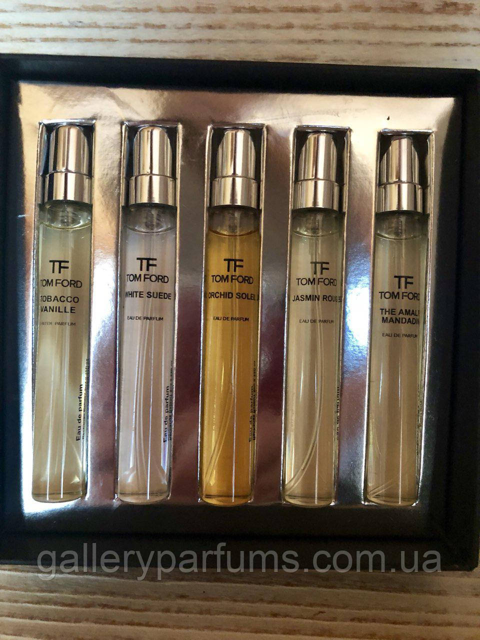 набор Tom Ford Tobacco Vanille White Suede Orchid Soleil Jasmin Rouge The Amalfi Mandadin 5 75 Ml