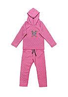 Трикотажный спортивный костюм для девочек от 1-4 лет, фото 1