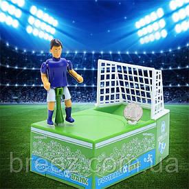 Копилка Футболист забивает гол монеткой