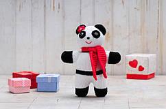 "Панда ""Бамбіна"" в'язана іграшка"