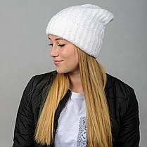 """Удлиненная женская шапка """"Stella"""" с отворотом, фото 3"""