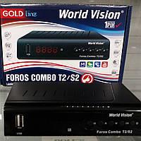 Тюнер T2 + SAT + IPTV World Vision Foros Combo DVB-T2/DVB-S2/IPTV