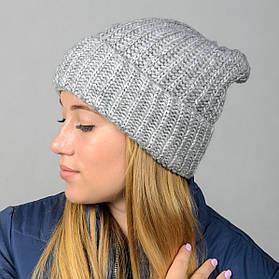 """Удлиненная женская шапка """"Stella"""" с отворотом"""