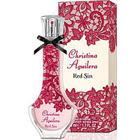 Женская парфюмированная вода Christina Aguilera Red Sin (яркий и провокационный фруктово-цветочный аромат)