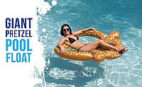 Пляжный Надувной Матрас для Плавания и Отдыха Крендель 150 х 140 см Круг в Виде Бублика