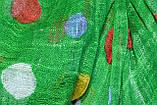 Зеленый горохами льняной шарф, фото 2