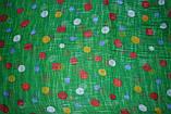 Зеленый горохами льняной шарф, фото 3