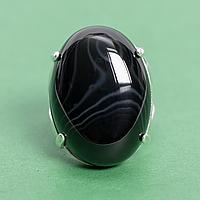 Оникс, 25*18 мм., серебро 925, кольцо, 921КО