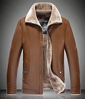 Куртка зимняя кожаная,дубленка мужская на овчине. Натуральная кожа.