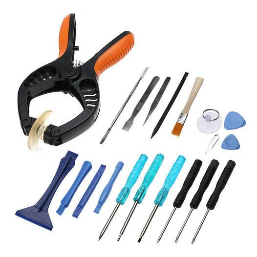 Набор инструментов 20 в 1 для ремонта телефонов, смартфонов, планшетов