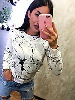 Реглан,свитшот женский турецкий, белый, фото 1