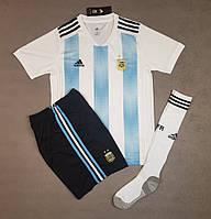 Футбольная форма Cборной Аргентины ЧМ 2018 домашняя, бело-голубая