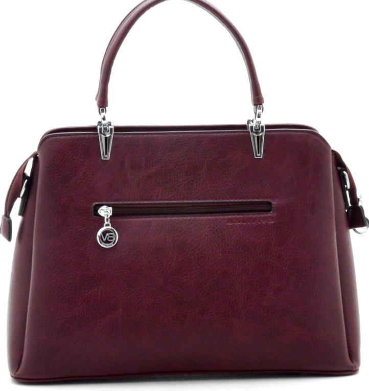 72713e896192 ... Женская сумка бордового цвета на три отделения из кожзаменителя, ...
