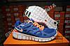 Кроссовки Nike Free Run 2.0 Blue Orange Синие женские, фото 4