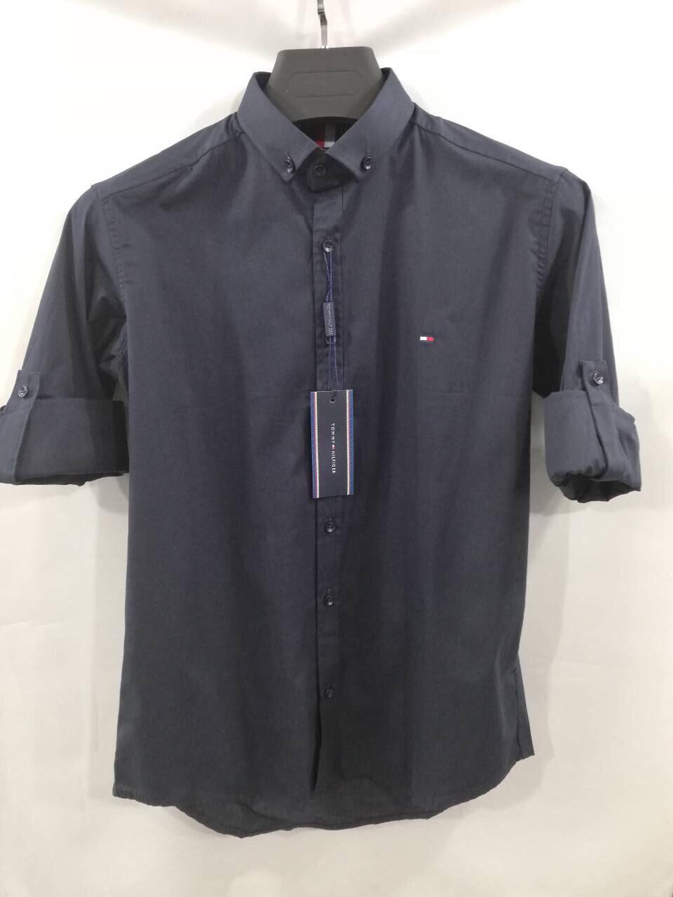 Мужские стильные рубашки бренд Tommy Hilfiger в ассортименте цветов оптом  Турция 5fdd493cbd5d3