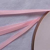 Лента репсовая розовая, ширина 7 мм