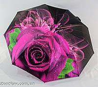 "Женский зонт полуавтомат сатин ""3D rose flower"", фото 1"