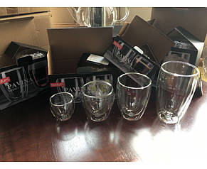 Стеклянные стаканы с двойными стенками Bodum Pavina 80 мл (ОРИГИНАЛ) 2 шт, фото 3
