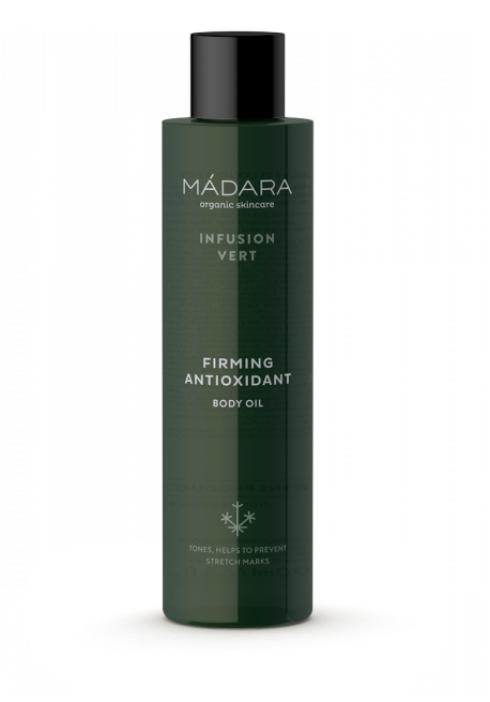 Зміцнювальний органічне масло для тіла з антиоксидантами Infusion Vert, 200 мл, Madara