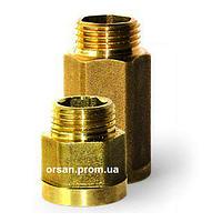 Удлинитель 1/2 ВН 20 мм латунь Lexline