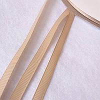 Лента репсовая бежевая, ширина 7 мм
