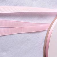 Репсова стрічка рожева, ширина 1 см, фото 1
