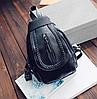 Рюкзак женский мини каплевидный Черный