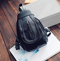 Рюкзак женский мини каплевидный Черный, фото 1