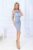 Нарядное платье / креп люрекс, бахрома / Украина 40-1558, фото 1