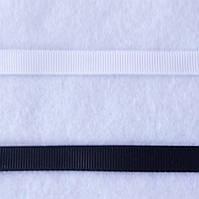 Лента репсовая черная, ширина 1 см, фото 1