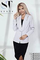 Стильный офисный костюм с юбкой размеры S-ХХL, фото 1
