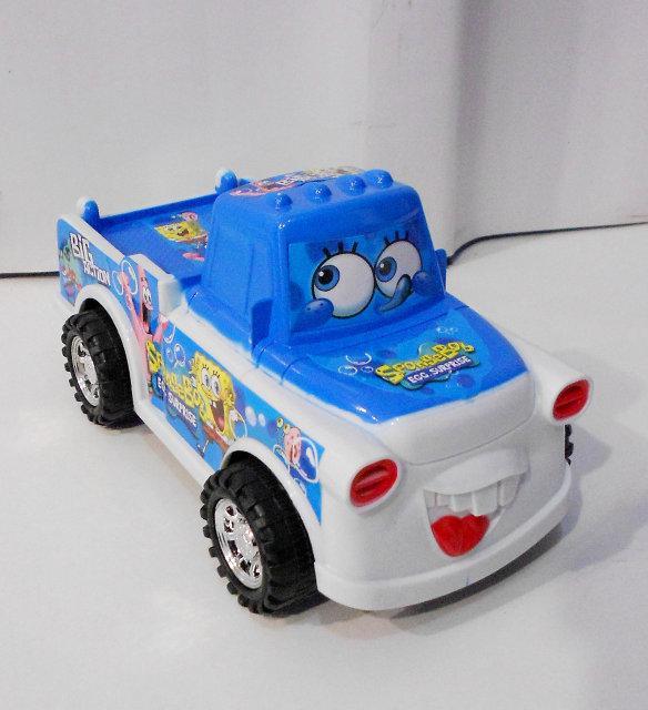 Машина детская Спанч Боб (голубая и желтая)