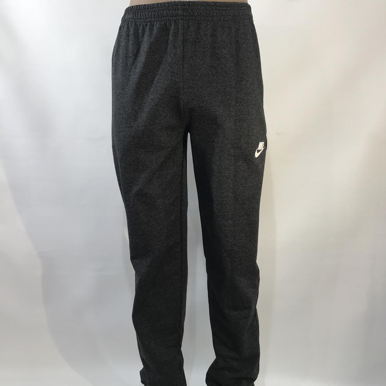 Спортивные штаны  (больших размеров) в стиле Nike под манжет темно серые