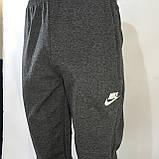 Спортивные штаны  (больших размеров) в стиле Nike под манжет темно серые, фото 4