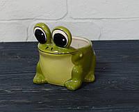 """Керамический горшок  """"Лягушка"""""""